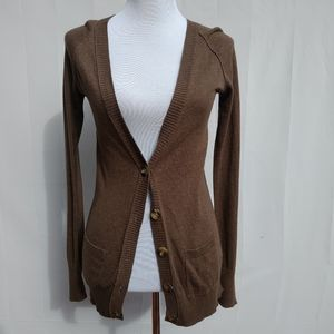 Mossimo| Cardigan Sweater Brown V-Neck